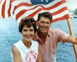 Nancy Ronald Reagan on boat